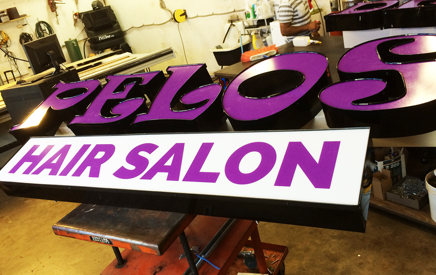 Cedar Park Styles Hair Studios Channel Letter Signs
